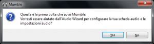 Audio Wizard di Mumble
